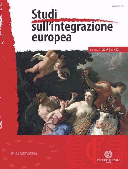 Immagine di Studi sull'integrazione europea - Anno XII, n.3
