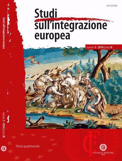 Immagine di Studi sull' integrazione europea - Anno IX, n.1