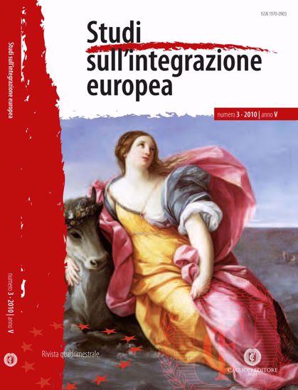 Immagine di Studi sull' integrazione europea - Anno  V, n.3