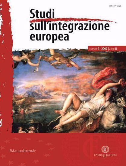 Immagine di Studi sull' integrazione europea - Anno  II, n.3