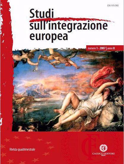 Immagine di Studi sull' integrazione europea - Anno  II, n.1