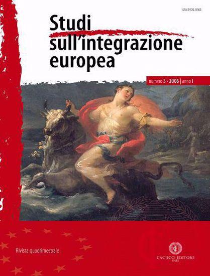 Immagine di Studi sull' integrazione europea - Anno  I, n.3