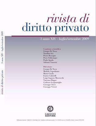 Immagine di Rivista di diritto privato - Anno XIV, n.3