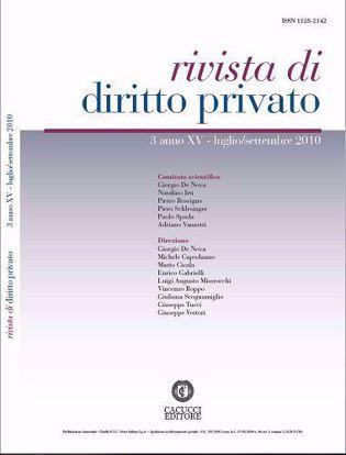 Immagine di Rivista di diritto privato - Anno XV, n.3