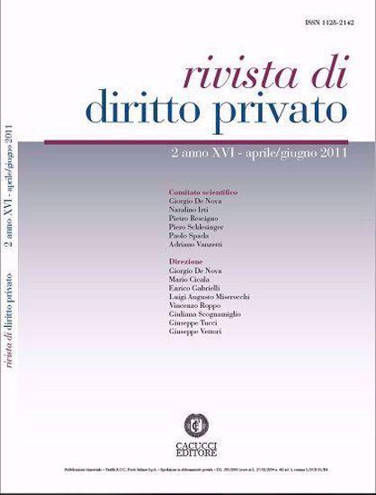 Immagine di Rivista di diritto privato - Anno XVI, n.2