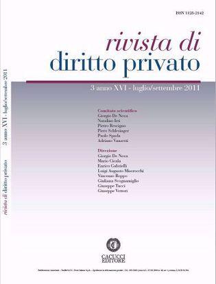 Immagine di Rivista di diritto privato - Anno XVI, n.3