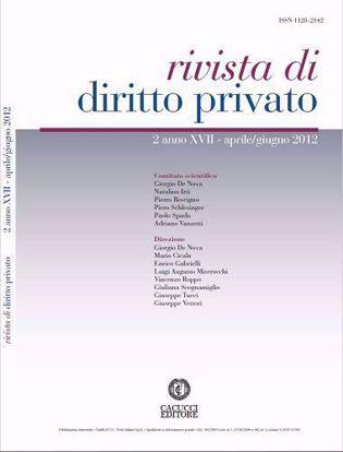 Immagine di Rivista di diritto privato - Anno XVII, n.2