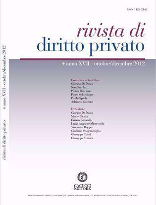 Immagine di Rivista di diritto privato - Anno XVII, n.4