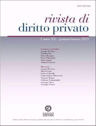 Immagine di Rivista di diritto privato -Anno XX, n.1