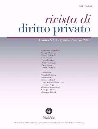 Immagine di Rivista di diritto privato -Anno XXII, n.1