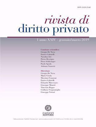 Immagine di Rivista di diritto privato -Anno XXIV, n.1