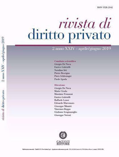Immagine di Rivista di diritto privato -Anno XXIV, n.2