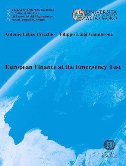 Immagine di 45 - European Finance at the Emergency Test