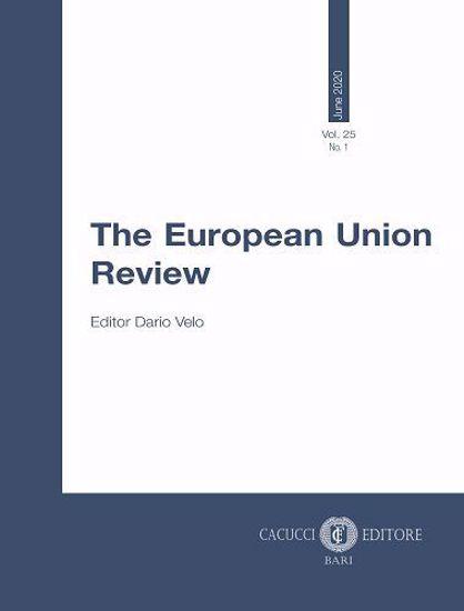 Immagine di The European Union Review - Vol. 25 No. 1